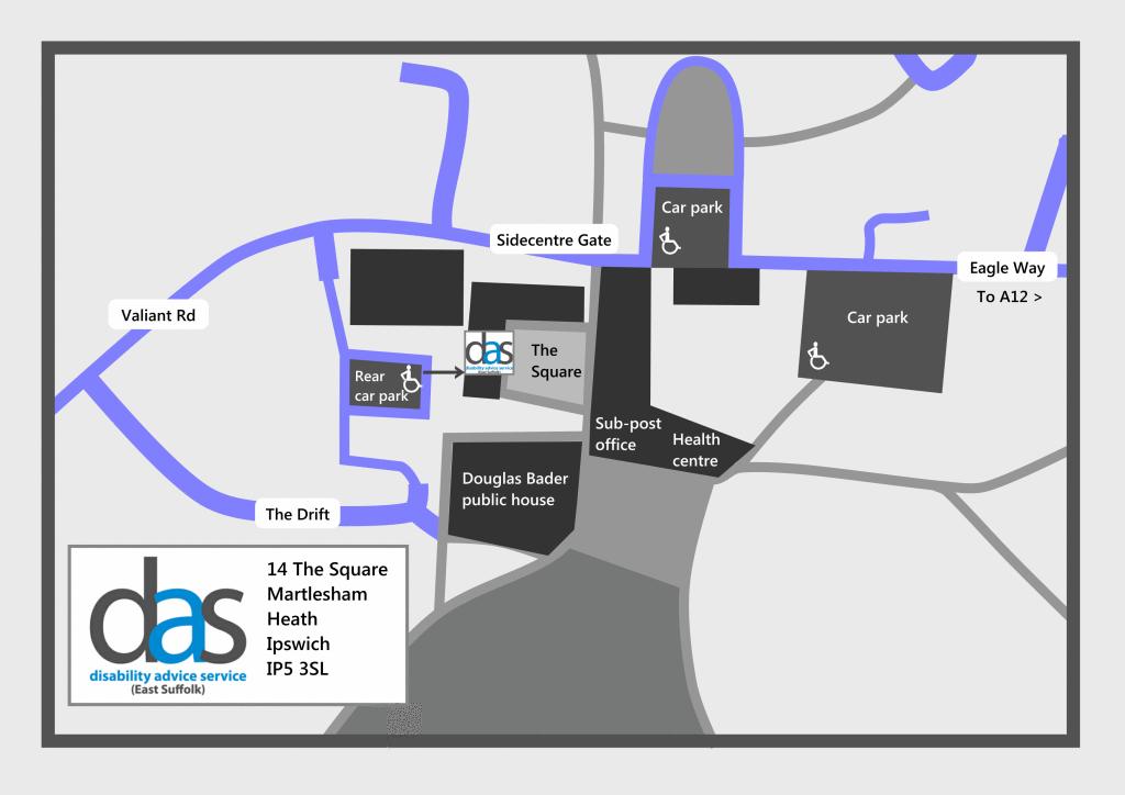 Map to DAS office